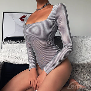 LINES Gray Bodysuit