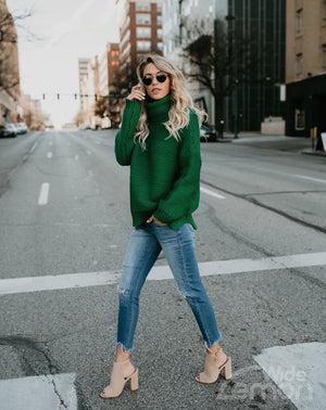 Green Knitted Pullover