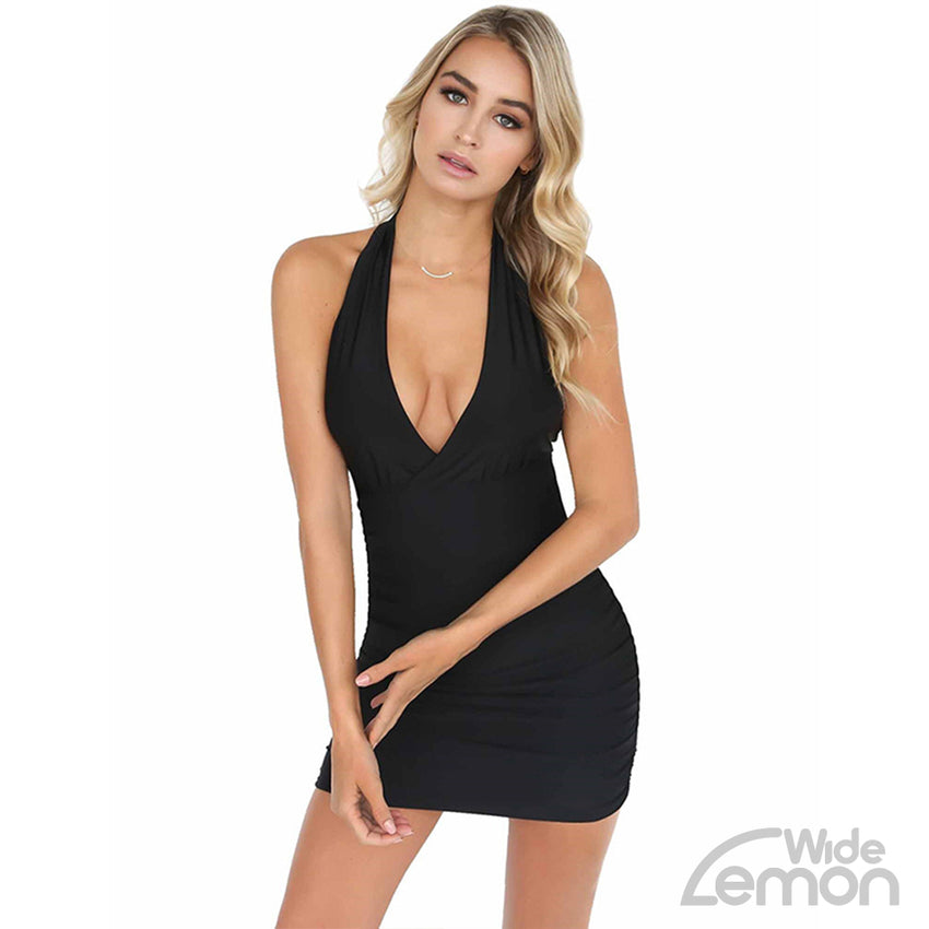 'MAMBA' V-Neck Short Dress