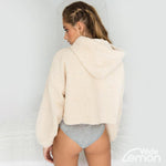 BEIGE Teddy Fur Hooded