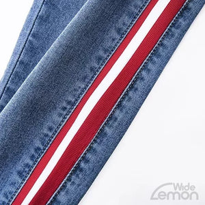 Skinny Jeans With Side Stripes