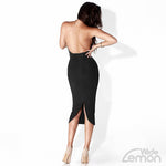 BLACK Backless Dress