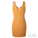 'LEMON' V-Neck Short Dress