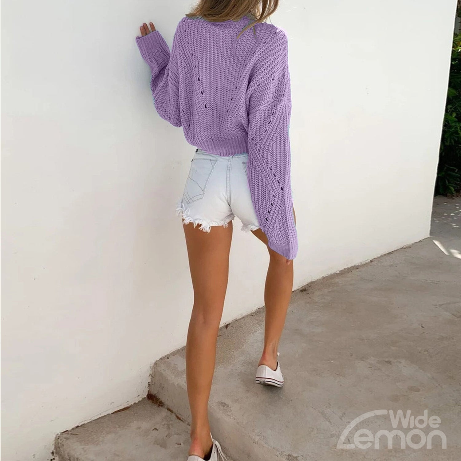 PURPLE Knitted Sweater