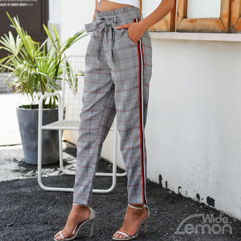 GREY Checkered Pants