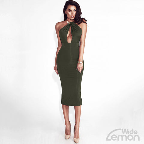 ARMY Backless Dress