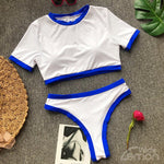 BLANC Sport Bikini Set With Blue