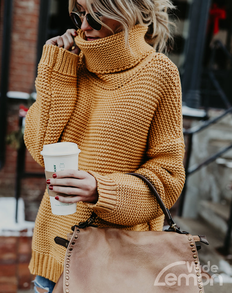Yellow Knitted Pullover
