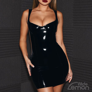 MAMBA Glossy Sleeveless Dress