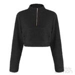 BLACK Turtleneck Sweatshirt