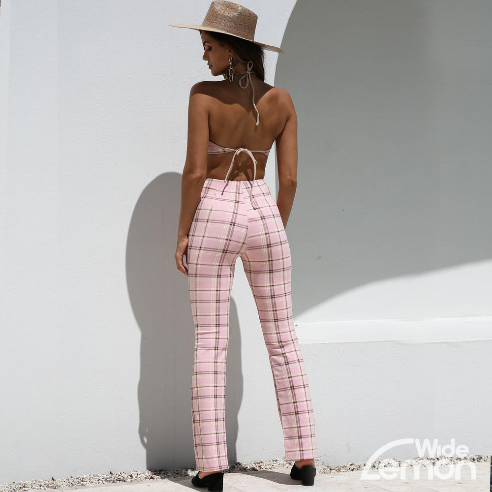 Pink Checkered Two Piece Set