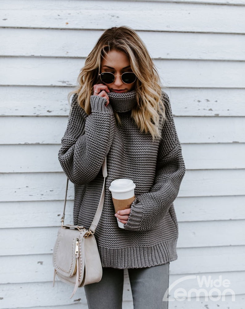 Grey Knitted Pullover
