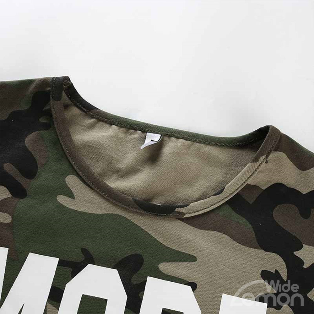 MORE Letters Camouflage T-Shirts