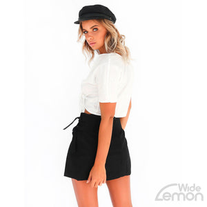Black Skinny High Waist Skirt