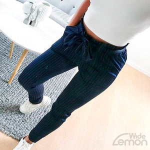 Blue Trousers With Elastic Waist