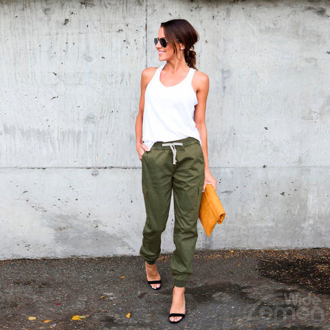 Army Green Casual Trousers