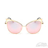 Goldpink Mirrored Cat Eye Sunglasses.
