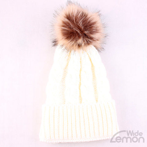 Beige Winter Hat