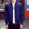 Blue Basic Bomber Jacket
