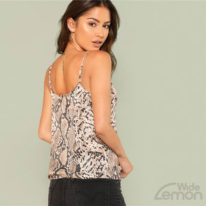 SNAKE Sleeveless T-shirt