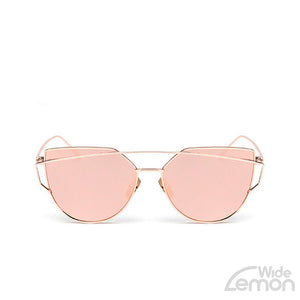 Gold Pink Cat Eye Sunglasses