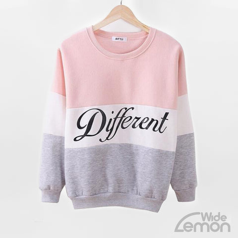 'Different' Sweatshirt With Colorful Lines