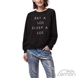 'EAT SLEEP' Black Sweatshirt