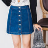 Short Denim Skirt With Buttons