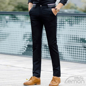 Black Skinny Chinos Trousers