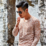 Brown And White Long Sleeve T-Shirt