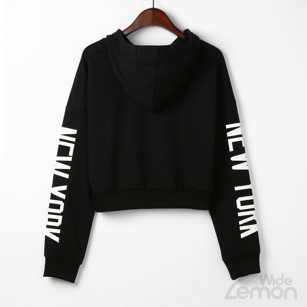 Black 'New York' Women Sweatshirt