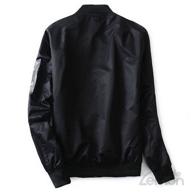 Black Pilot Bomber Jacket