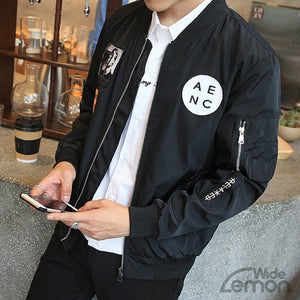 Black 'Relaxed' Bomber Jacket