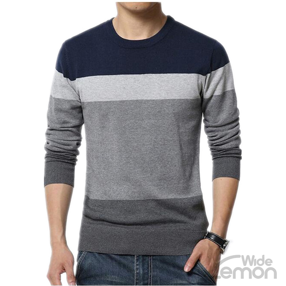Blue Colorul Long Sleeve Knitwear