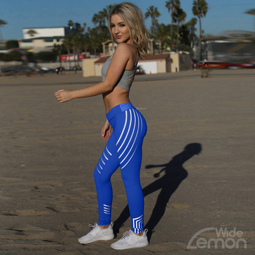 Fitness Blue Leggings