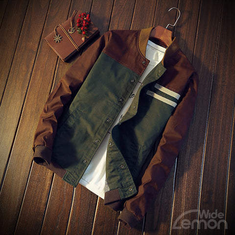 Brown & Green Bomber Jacket