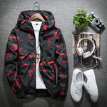 Red Camouflage Bomber Jacket