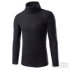 Black Casual High-collar Knitwear