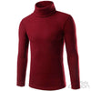 Red Casual High-collar Knitwear