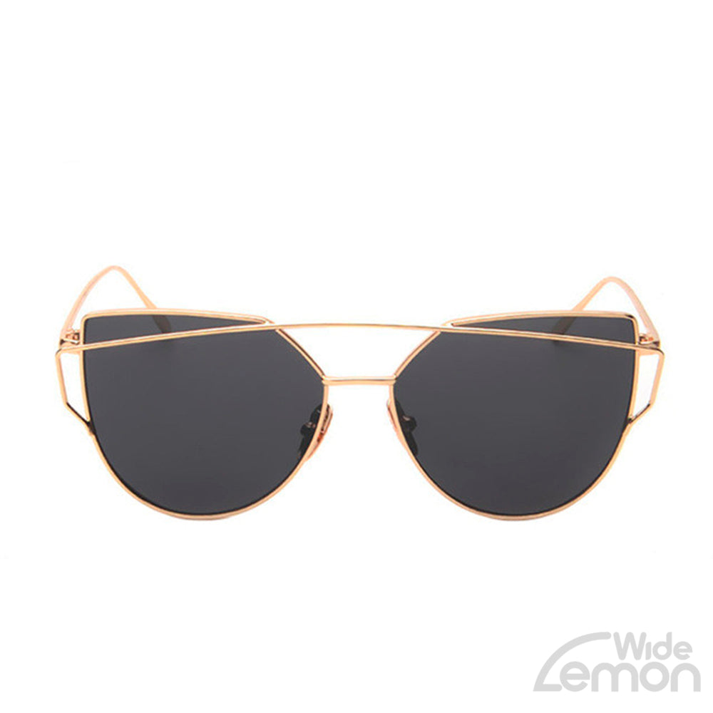 Gold Grey Cat Eye Sunglasses