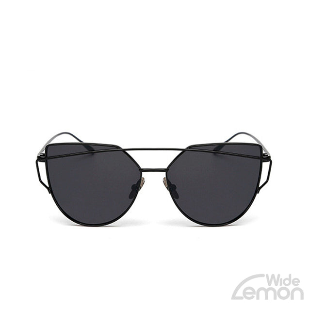 Black Grey Cat Eye Sunglasses