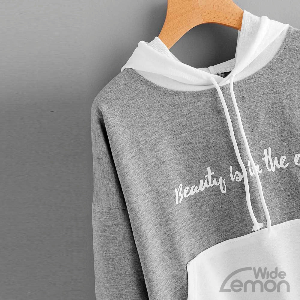 Long Sleeve Sweatshirt With Letters