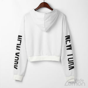 White 'New York' Women Sweatshirt