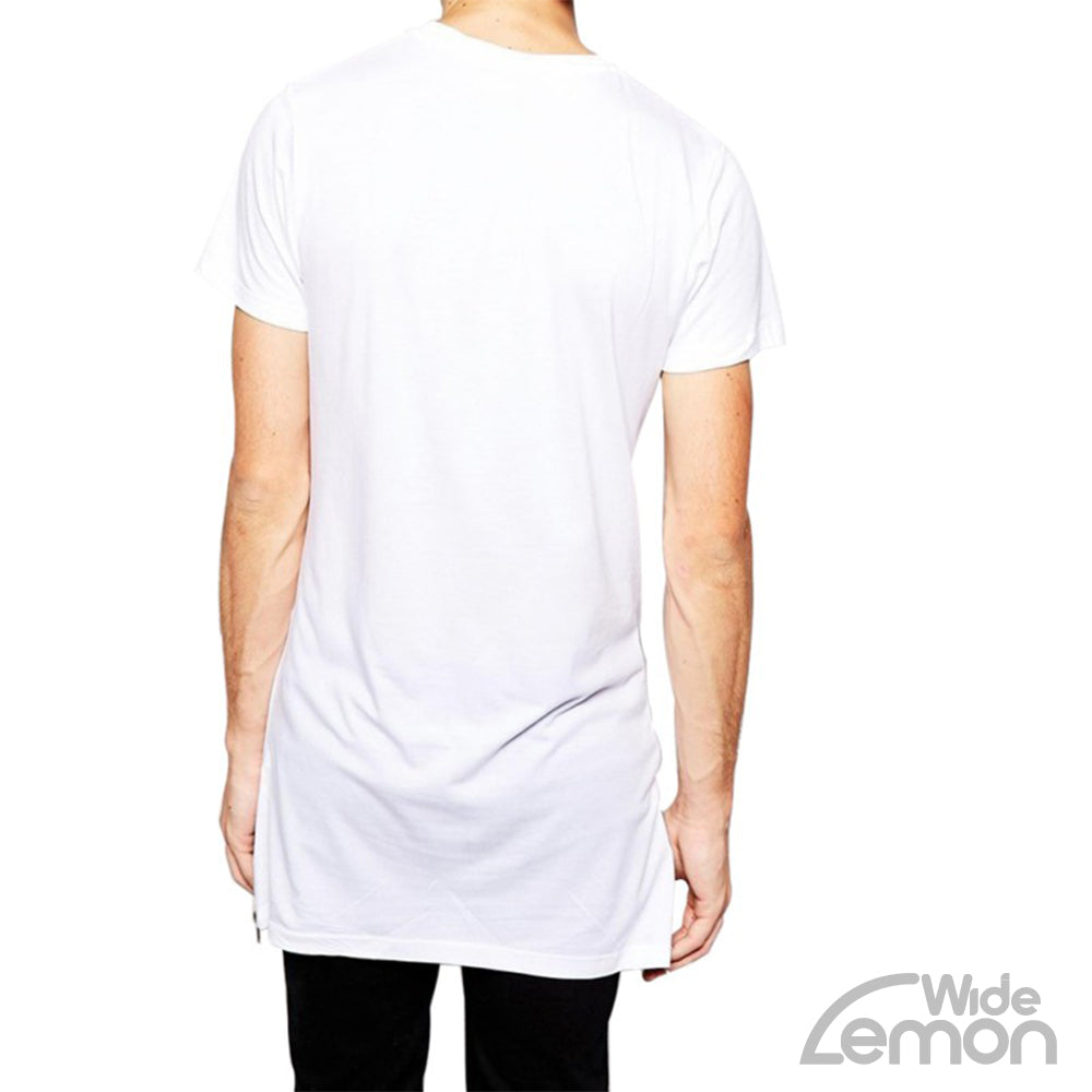 White Longer Length T-Shirt