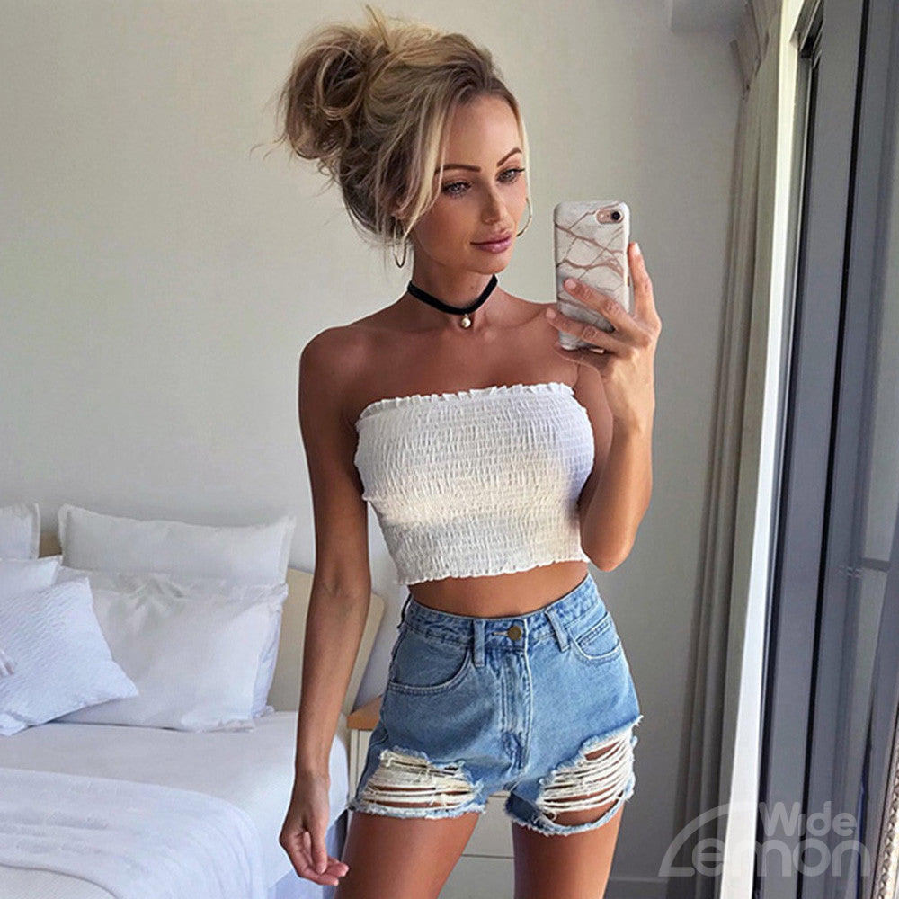 White Elastic Top
