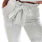 White Trousers With Elastic Waist