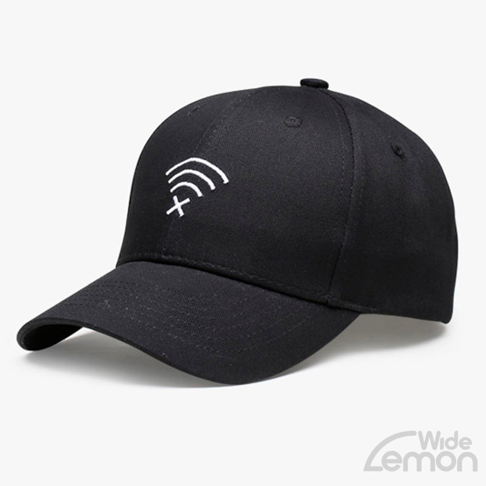 Black Wifi Logo Baseball Cap