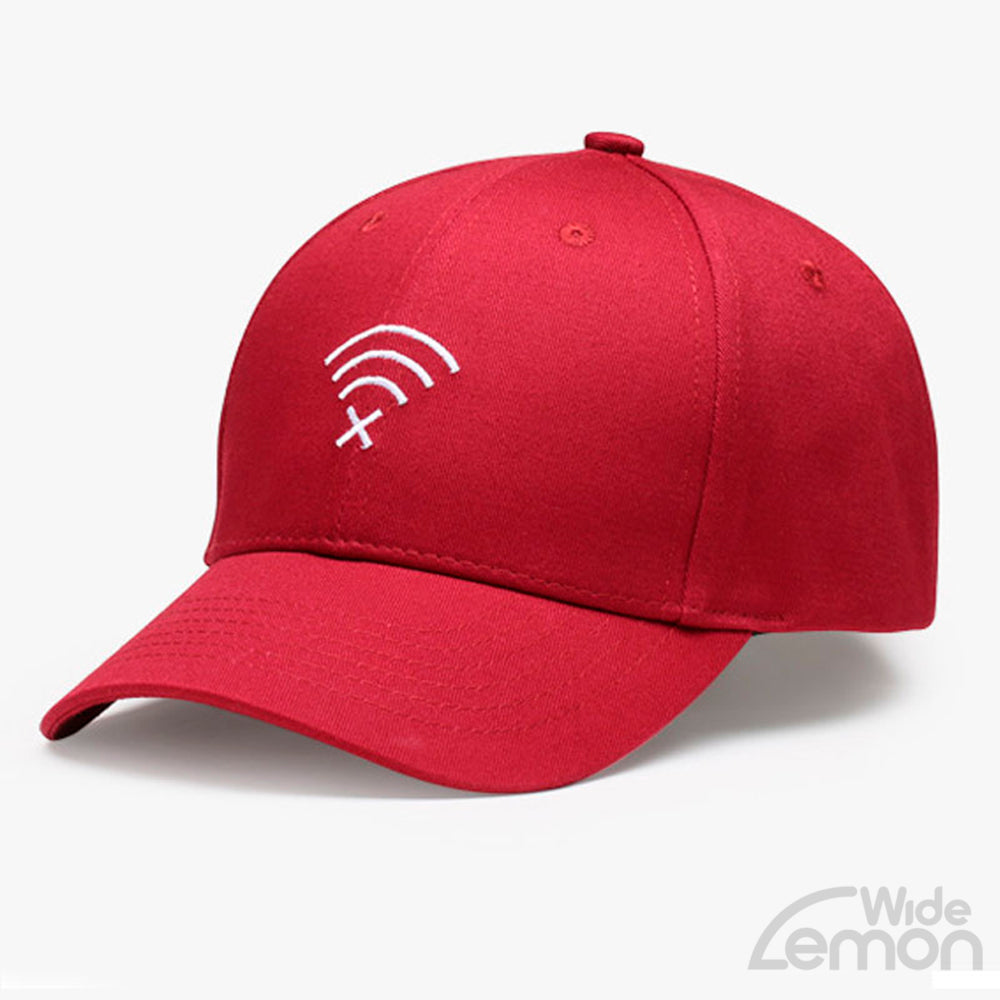 Red Wifi Logo Baseball Cap