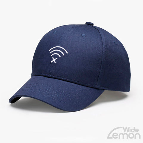 Navy Blue Wifi Logo Baseball Cap