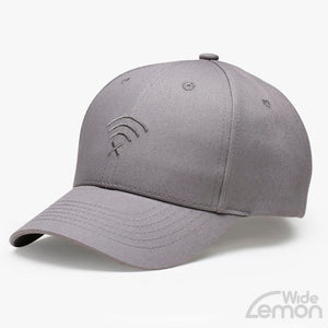 Grey Wifi Logo Baseball Cap